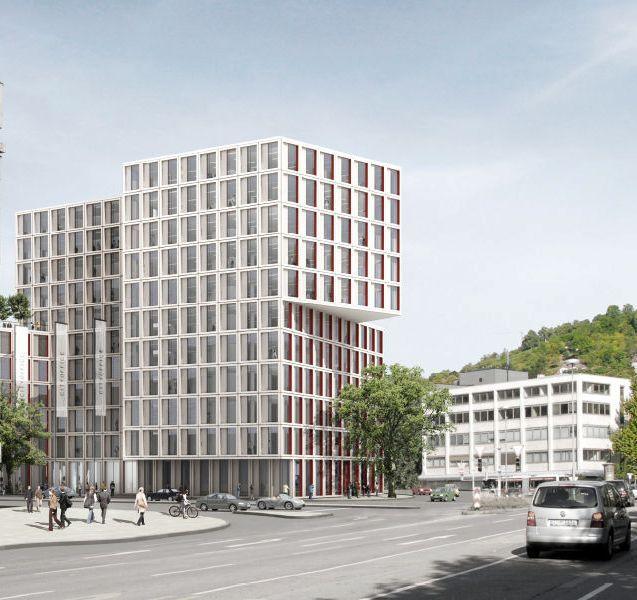 office building city gate stuttgart. Black Bedroom Furniture Sets. Home Design Ideas
